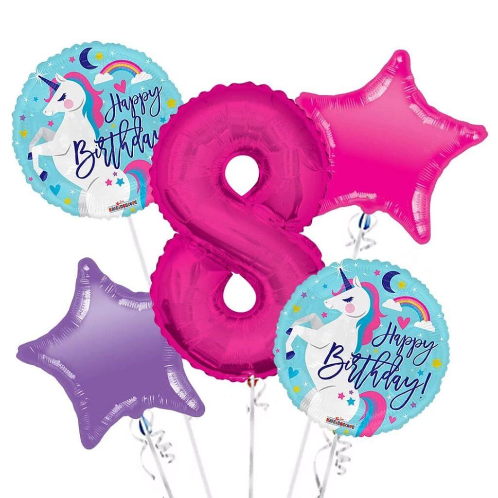 Unicorn Birthday Balloons