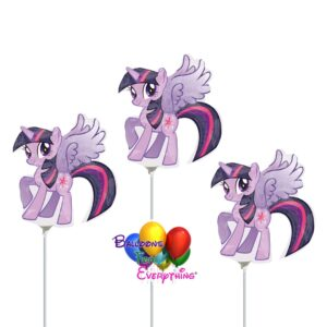 3 – 14in Twilight Sparkle Mini Shape Inflated Balloons