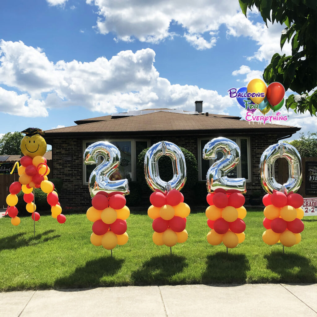 Dancing Graduation Yard Balloon Decor
