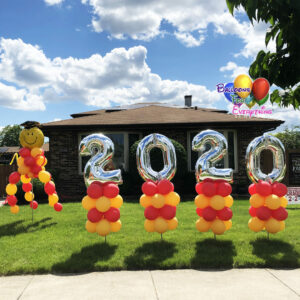 Dancing Graduation Yard Balloon Decor