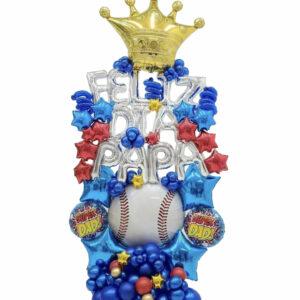 Feliz Día Papá Sport Balloon Bouquet